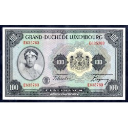 Люксембург 100 франков ND (1934 г.) (LUXEMBOURG 100 Francs ND (1934)) P39:Unc-