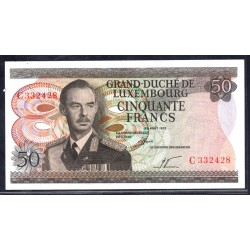Люксембург 50 франков 1972 г. (LUXEMBOURG  50 Francs 1972) P55а:Unc