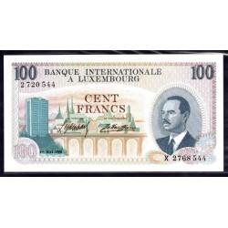 Люксембург 100 франков 1968 г. (LUXEMBOURG  100 Francs 1968) P14а:Unc