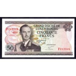Люксембург 50 франков 1972 г. (LUXEMBOURG  50 Francs 1972) P55b:Unc