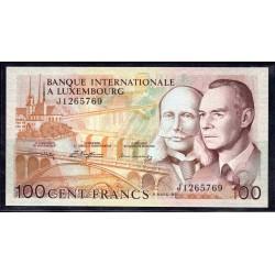Люксембург 100 франков 1981 г. (LUXEMBOURG 100 Francs 1981) P14А:Unc