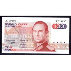 Люксембург 100 франков 1980 г. (LUXEMBOURG  100 Francs 1980) P57а:Unc
