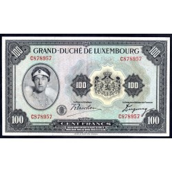 Люксембург 100 франков ND (1934 г.) (LUXEMBOURG 100 Francs ND (1934)) P39:XF