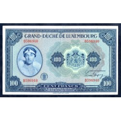 Люксембург 100 франков ND (1944 г.) (LUXEMBOURG 100 Francs ND (1944)) P47:Unc