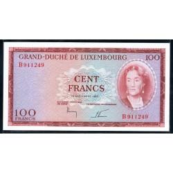 Люксембург 100 франков 1963 г. (LUXEMBOURG 100 Francs 1963) P52:Unc