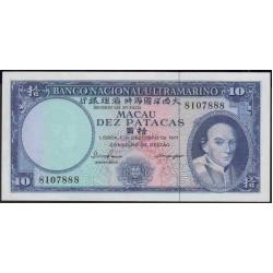 Макао 10 патака 1977 год (Macau 10 patacas 1977 year) P 55a(1):Unc