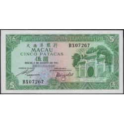 Макао 5 патака 1981 год (Macau 5 patacas 1981 year) P 58c(5):Unc