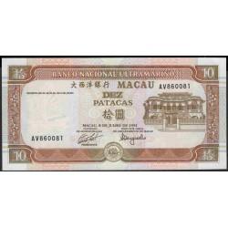 Макао 10 патака 1991 год (Macau 10 patacas 1991 year) P 65:Unc