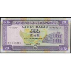 Макао 20 патака 1996 год (Macau 20 patacas 1996 year) P 66:Unc