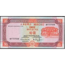 Макао 10 патака 2001 год (Macau 10 patacas 2001 year) P 76b(2):Unc