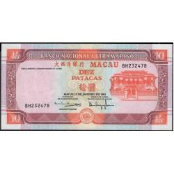 Макао 10 патака 2001 год (Macau 10 patacas 2001 year) P 76b(4):Unc