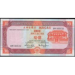 Макао 10 патака 2003 год (Macau 10 patacas 2003 year) P 77:Unc