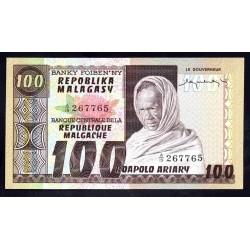 Мадагаскар 100 франков=20 ариари ND (1974 - 75 г. г.) (MADAGASCAR 100 francs=20 ariary ND (1974 - 75 g.)) P63a:Unc