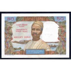 Мадагаскар 50 франков ND (1969 г.) (MADAGASCAR 50 francs ND (1969 g.))  P61:aUnc