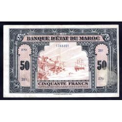 Марокко 50 франков 1843 г. (MOROCCO  50 francs 1843 g.) P40:VF