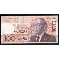 Марокко 100 дирхам 1987 г. (MOROCCO 100 dirhams 1987 g.) P65d:Unc