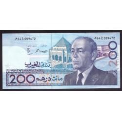 Марокко 200 дирхам 1987 г. (MOROCCO  200 dirhams 1987 g.) P66:Unc