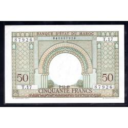 Марокко 50 франков 1949 г. (MOROCCO  50 francs 1949 g.) P44:Unc