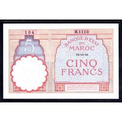 Марокко 5 франков 1941 г. (MOROCCO 5 francs 1941 g.) P23Ab:Unc