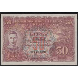 Малазия (Малайя) 50 центов 1941 г. (Malaysia (Malaya) 50 cents 1941 year) P10b:aUnc-