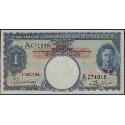 Малазия (Малайя) 1 доллар 1941 г. (Malaysia (Malaya) 1 dollar 1941 year) P11:Unc