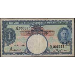 Малазия (Малайя) 1 доллар 1941 г. (Malaysia (Malaya) 1 dollar 1941 year) P11:VF