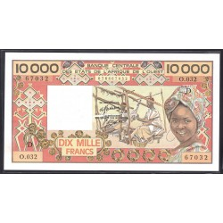 Мали 10000 франковND (1977-1992 г.) (MALI 10000 Francs ND (1977-1992)) P109А:Unc (Banque Centrale des États de l'Afrique de l'Ouest)