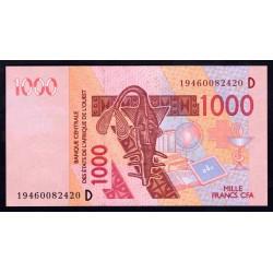 Мали 1000 франков 2003 г. (MALI 1000 Francs CFA 2003) P115Аа:Unc (Banque Centrale des États de l'Afrique de l'Ouest)