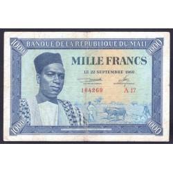 Мали 1000 франков 1960 г. (MALI 1000 Francs 1960) P4:VF+