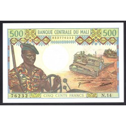 Мали 500 франков ND (1973-1984 г.) (MALI 500 Francs ND (1973-1984)) P12d:Unc