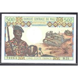 Мали 500 франков ND (1973-1984 г.) (MALI 500 Francs ND (1973-1984)) P12е:Unc