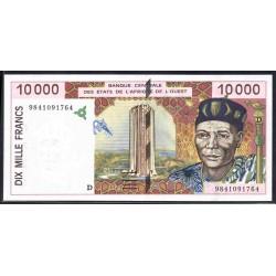Мали 10000 франковND (1992-2001 г.) (MALI 10000 Francs ND (1992-2001)) P114А:Unc (Banque Centrale des États de l'Afrique de l'Ouest)