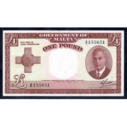 Мальта 1 фунт L.1949 г. (MALTA 1 Pound L. 1949) P22:Unc