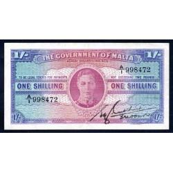 Мальта 1 шиллинг ND (1943 г.) (MALTA 1 Shilling ND (1943)) P16:XF-