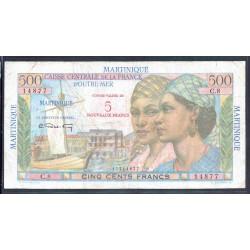 Мартиника 5 франков ND (1963 г.) (MARTINIQUE 5 Nouveaux Francs ND (1963)) P38:VF