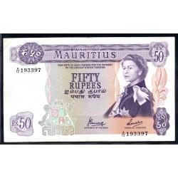 Маврикий 50 рупий ND (1967 г.) (MAURITIUS 50 Rupees ND (1967)) P33с:XF