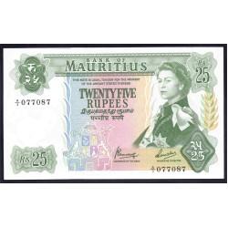 Маврикий 25 рупий ND (1967 г.) (MAURITIUS 25 Rupees ND (1967)) P32:Unc