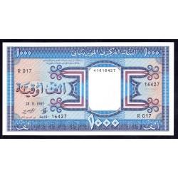 Мавритания 1000 огуйя 1985 год (Mauritania 1000 Ouquiya 1985 g.) P7b:Unc