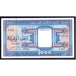 Мавритания 1000 огуйя 1993 год (Mauritania 1000 Ouquiya 1993 g.) P7f:Unc