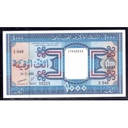 Мавритания 1000 огуйя 2002 год (Mauritania 1000 Ouquiya 2002 g.) P9с:Unc