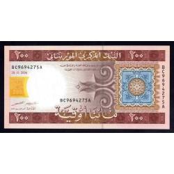 Мавритания 200 огуйя 2006 год (Mauritania 200 Ouquiya 2006 g.) P11b:Unc
