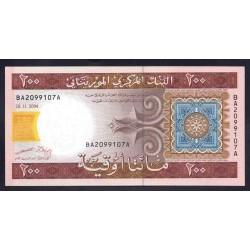 Мавритания 200 огуйя 2004 год (Mauritania 200 Ouquiya 2004 g.) P11а:Unc