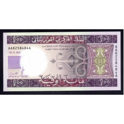 Мавритания 100 огуйя 2011 год (Mauritania 100 Ouquiya 2011 g.) P16a:Unc