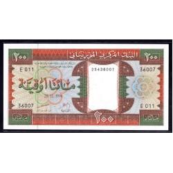 Мавритания 200 огуйя 1996 год (Mauritania 200 Ouquiya 1996 g.) P5g:Unc