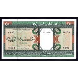 Мавритания 500 огуйя 1993 год (Mauritania 500 Ouquiya 1993 g.) P6g:Unc
