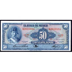 Мексика 50 песо 1961 г. (MEXICO 50 Pesos 1961) P49m:Unc