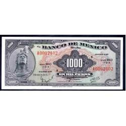 Мексика 1000 песо 1971 г. (MEXICO 1000 Pesos 1971) P52о:Unc