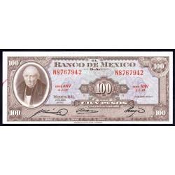 Мексика 100 песо 1963 г. (MEXICO 100 Pesos 1963) P61b:Unc