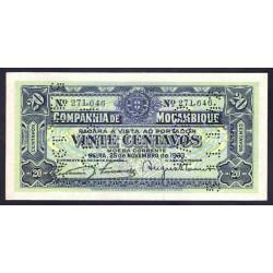 Мозамбик 20 центаво 1933 г. (MOZAMBIQUE - Beira 20 Centavos 1933) PR29:Unc