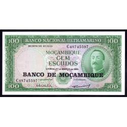 Мозамбик 100 эскудо 1961 (1976 г.) (MOZAMBIQUE 100 Escudos 1961 (1976)) P117:Unc